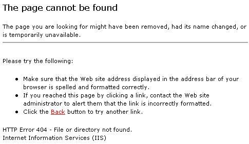 404 error pagina