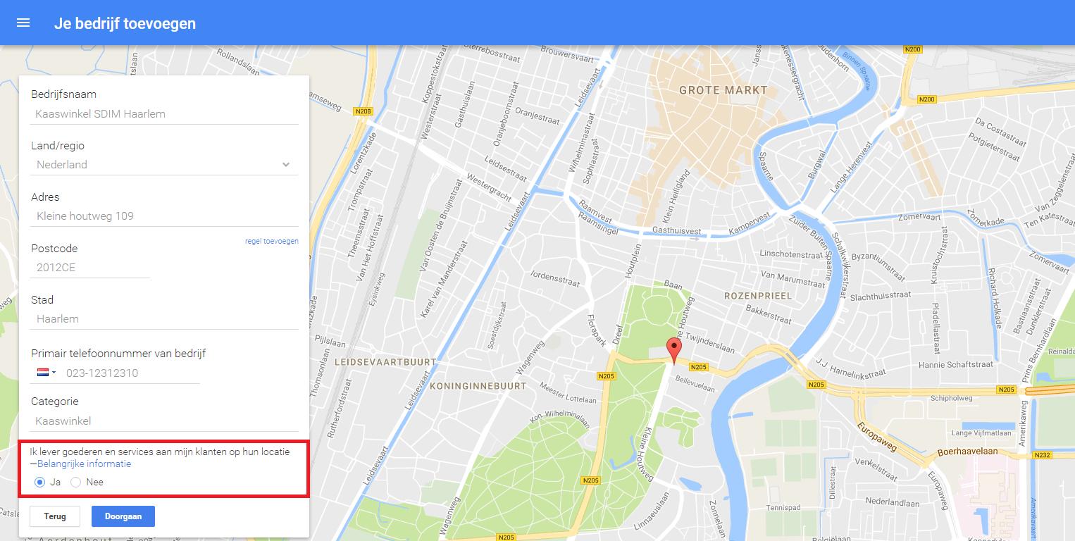 Google mijn bedrijf aanmaken