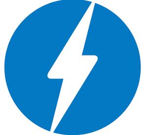 Het logo van AMP