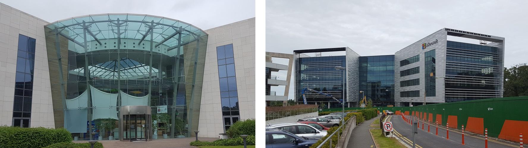 Microsoft Dublin oude kantoor vs nieuwe kantoor