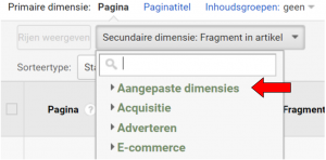 Google Analytics aangepaste dimensies custom dimensions