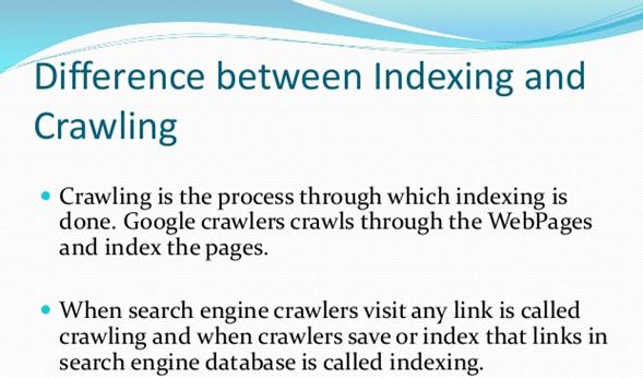 Verschil tussen crawling en indexing