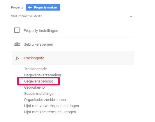 AVG GDPR Google Analytics Dataretentie 2