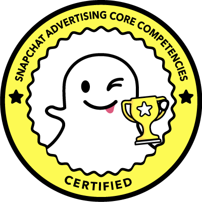 Snapchat advertising core competenties certified