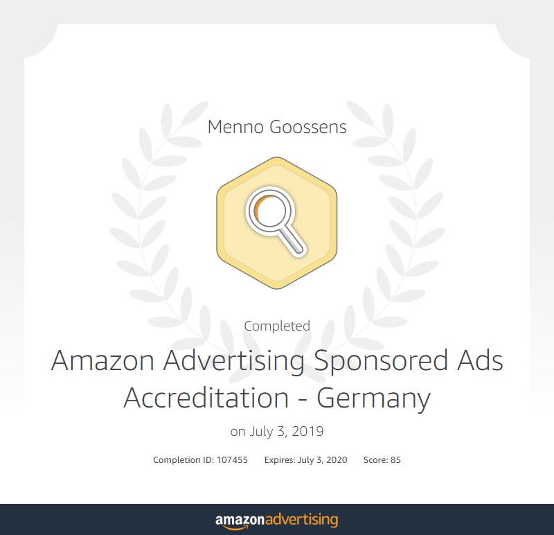 Amazon Certificaat