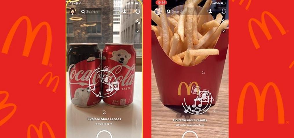 Snapchat Coca Cola / McDonalds
