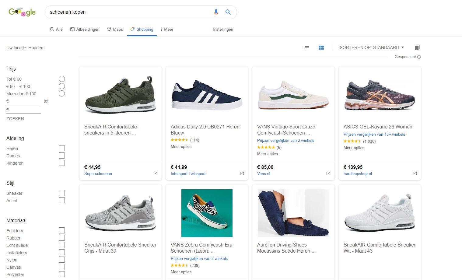 Google Shopping Tab