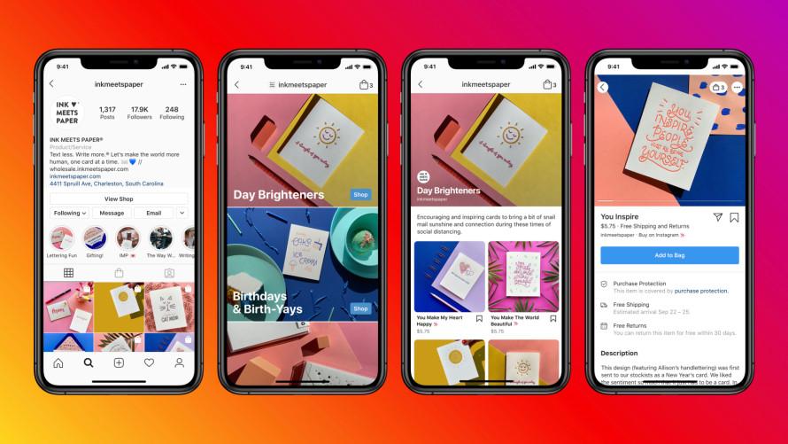 Facebook Shops - Instagram