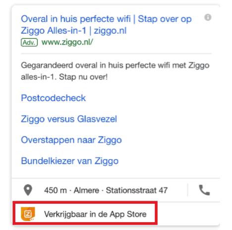 Voorbeeld app extensie