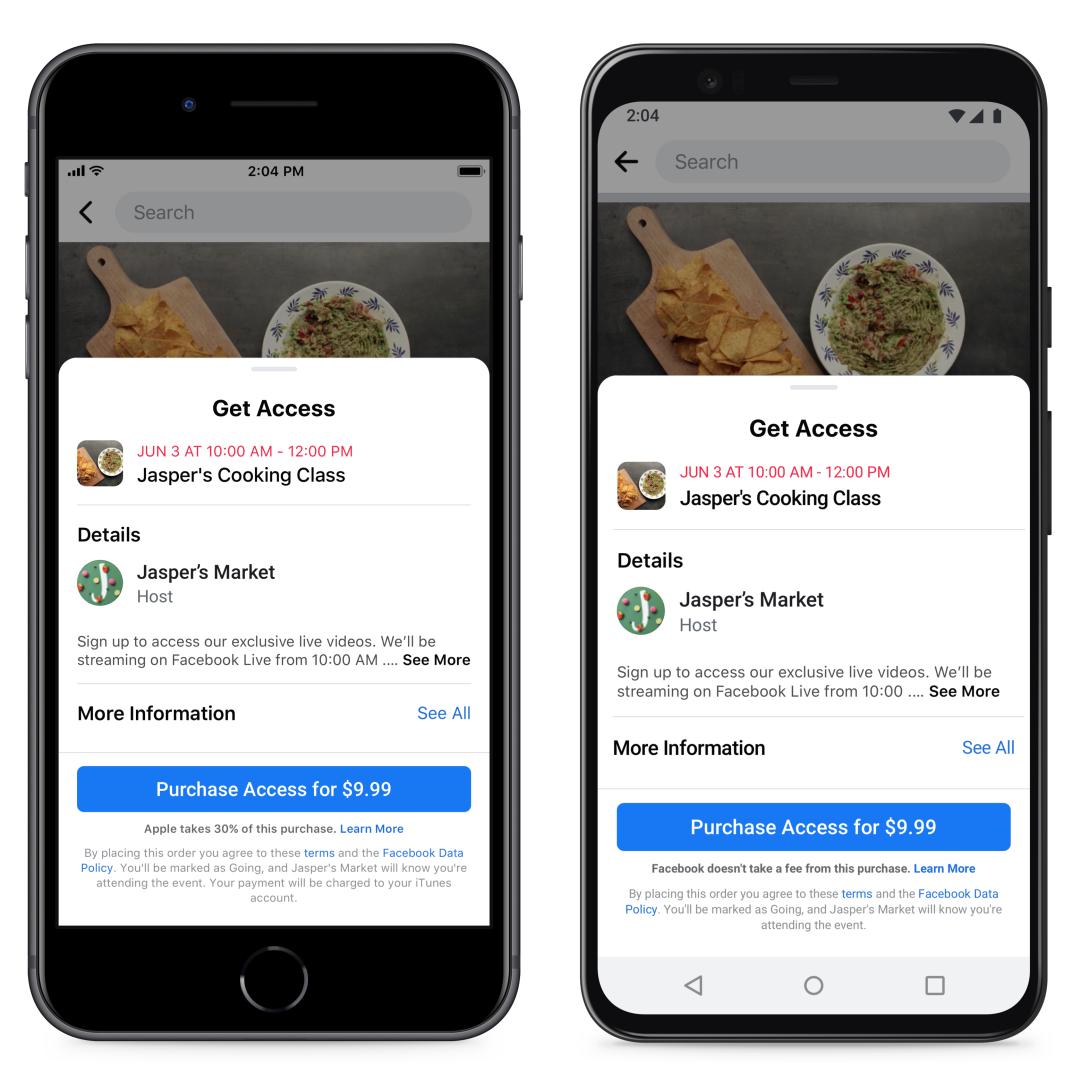 Facebook - Betaalde online evenementen