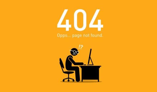 pagina niet gevonden 404