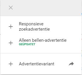 Google Ads Responsive Search aanmaken
