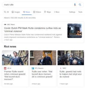 Google Nieuws nieuwsberichten